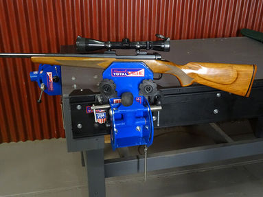 Sportmans Armorers Vise in the Crossover Vise Track System