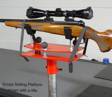 Scope Setting Platform With Rifle