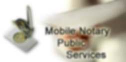 Mobile Notary Public Services