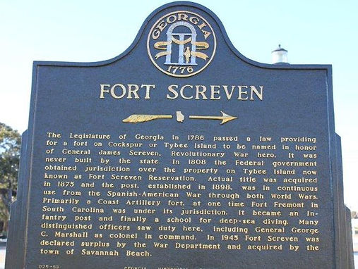 Tybee Island Fort Screven Historic District