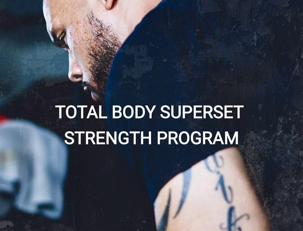 Total Body Superset Strength Program