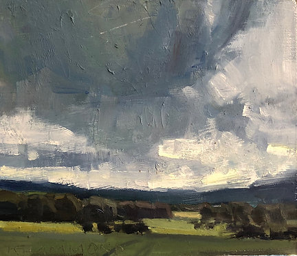 """Storm Clouds with Filtering Light (6""""x7"""")"""