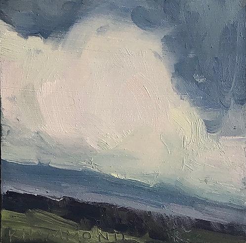 "Cumulus over Valley (3.5""x 3.5"")"