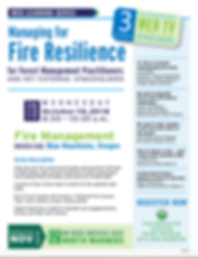 Managing fo Fire Resilience Event Annoucement