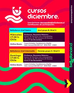 Cursos de Bellydance Diciembre 2020 @macarenapalermo
