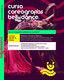 Cursos de Bellydance Coreografías 2020 @macarenapalermo
