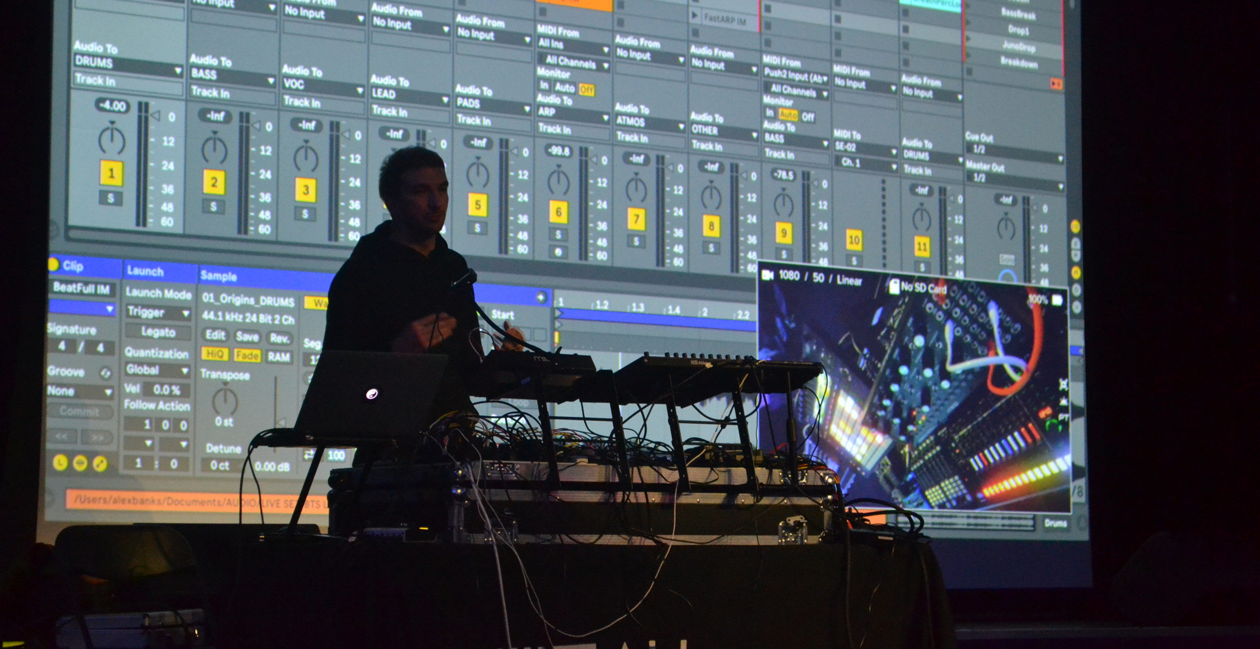 Alex Banks during the Ableton Takeover
