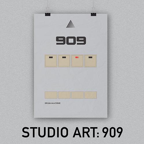 STUDIO ART: 909 (A3 Poster)