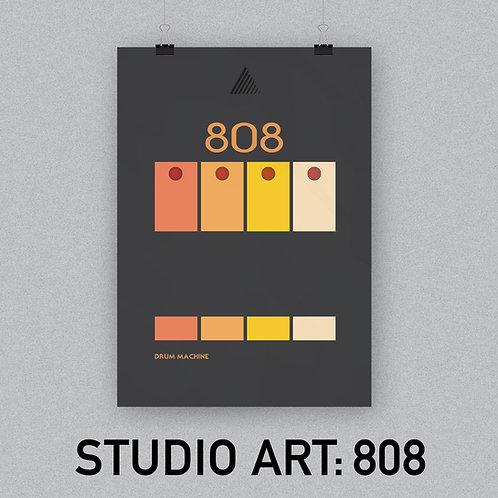 STUDIO ART: 808 (A3 Poster)