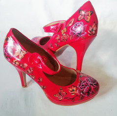 Red Patent Wedding Shoes