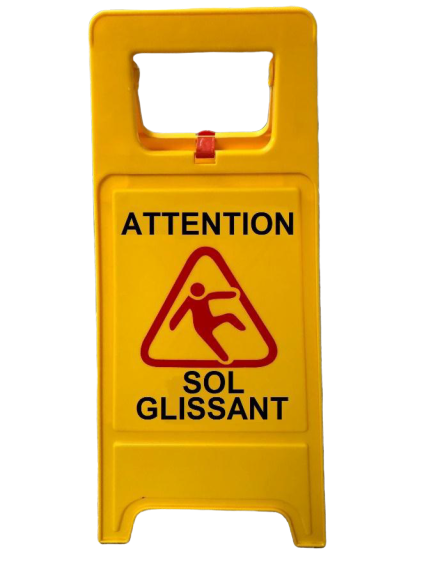 panneau signalisation sol glissant