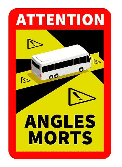 Sticker angle mort obligatoire bus