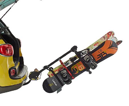 porte ski sur boule d'attelage