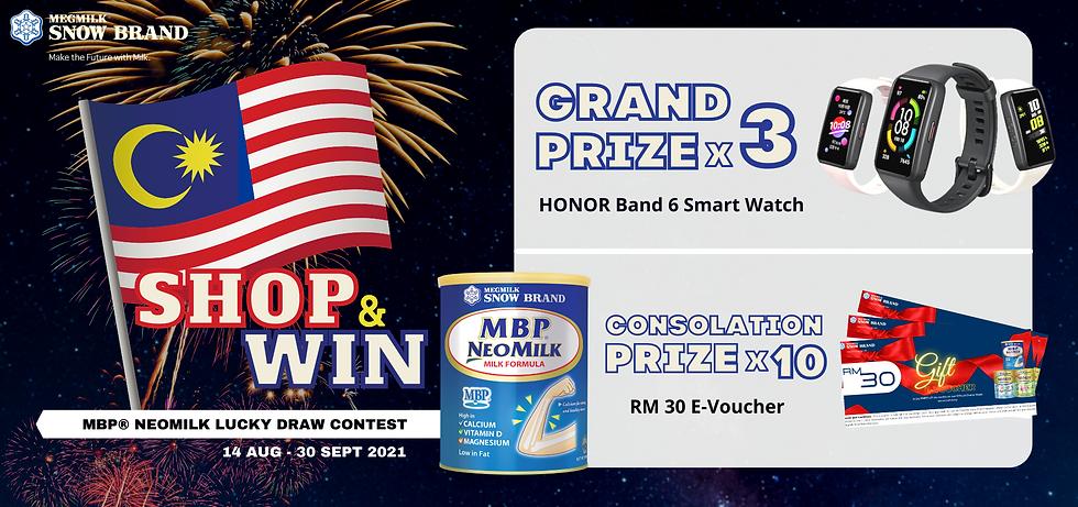 Megmilk Snow Brand Merdeka 2021 Shop & Win Lucky Draw Contest