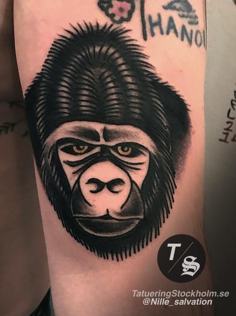 Monkey tattoo by @nille_salvation.JPG