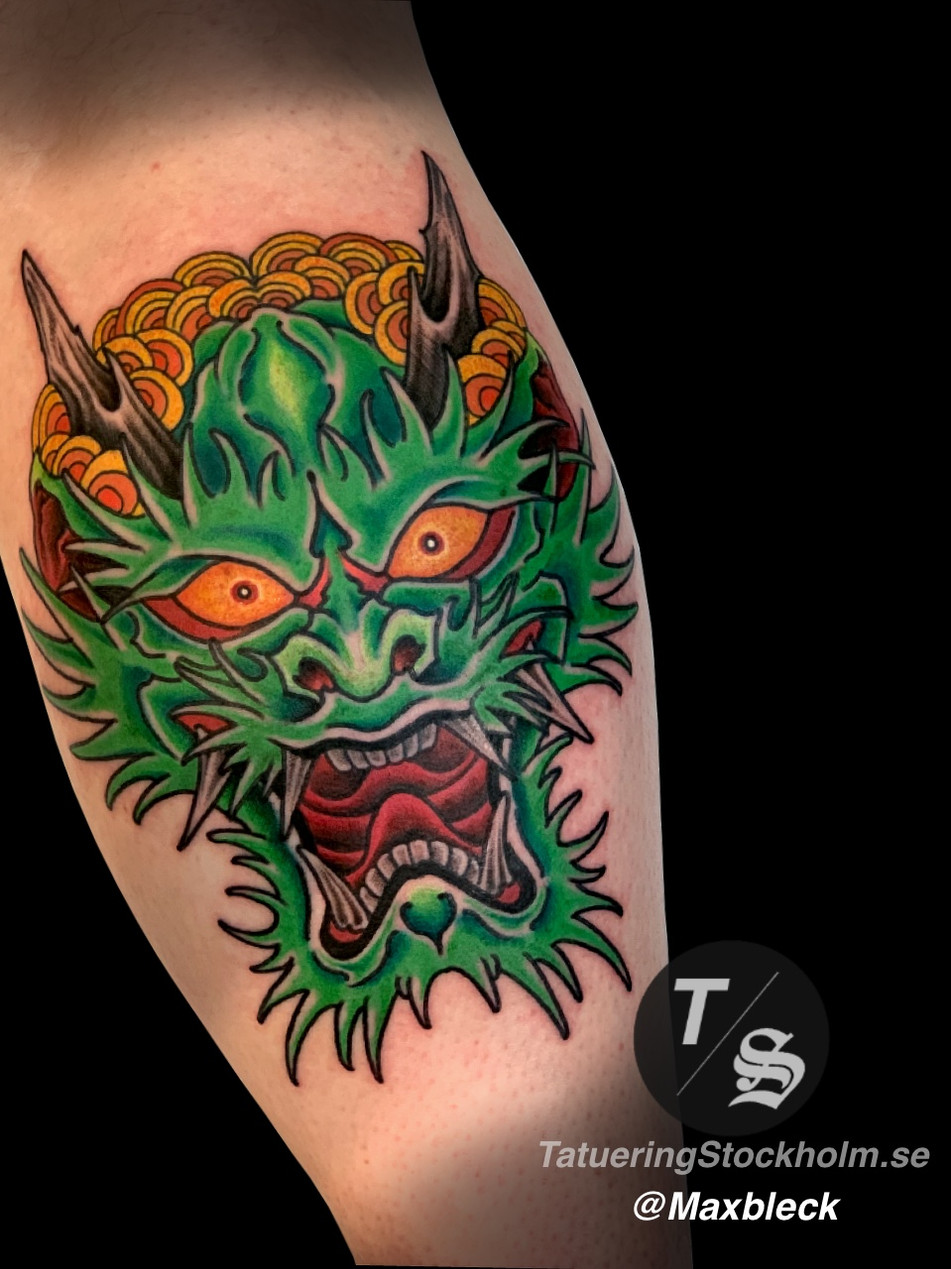Japanese dragon head