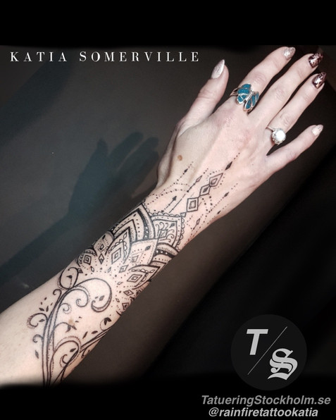 Armband geometric tattoo by @rainfiretat