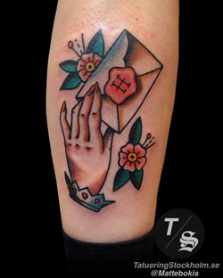 Traditional tattoo by Matte Bokis