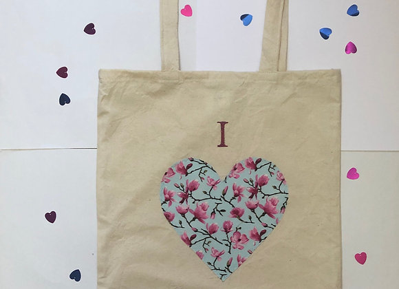 """I love Shopping"" Pink Tote Bag"
