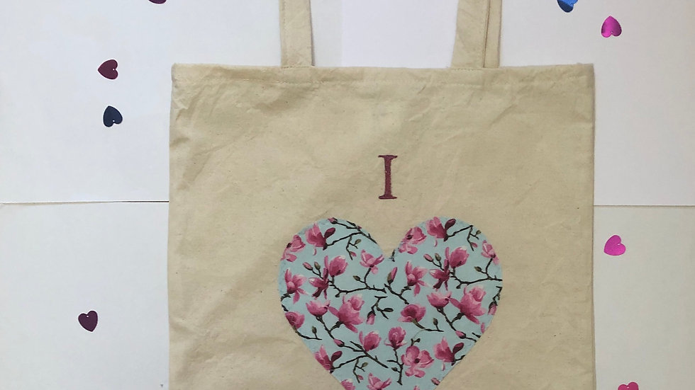 """I love Shopping"" Pink Tote Bag"