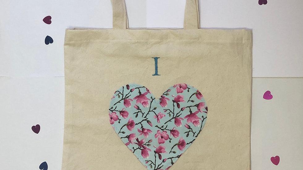 """I love Shopping"" Blue Tote Bag"