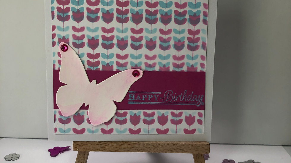 Floral Print Birthday Card
