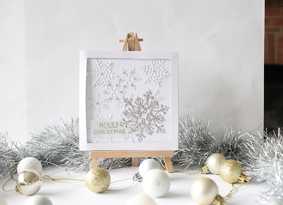 Framed Snowflake Christmas Card