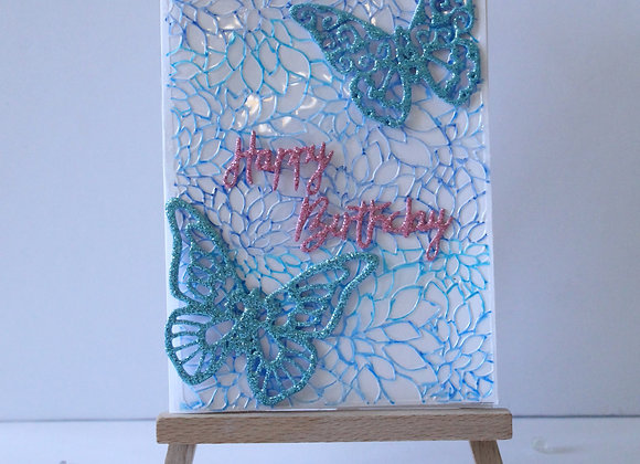 Floral and Butterfly Birthday Card