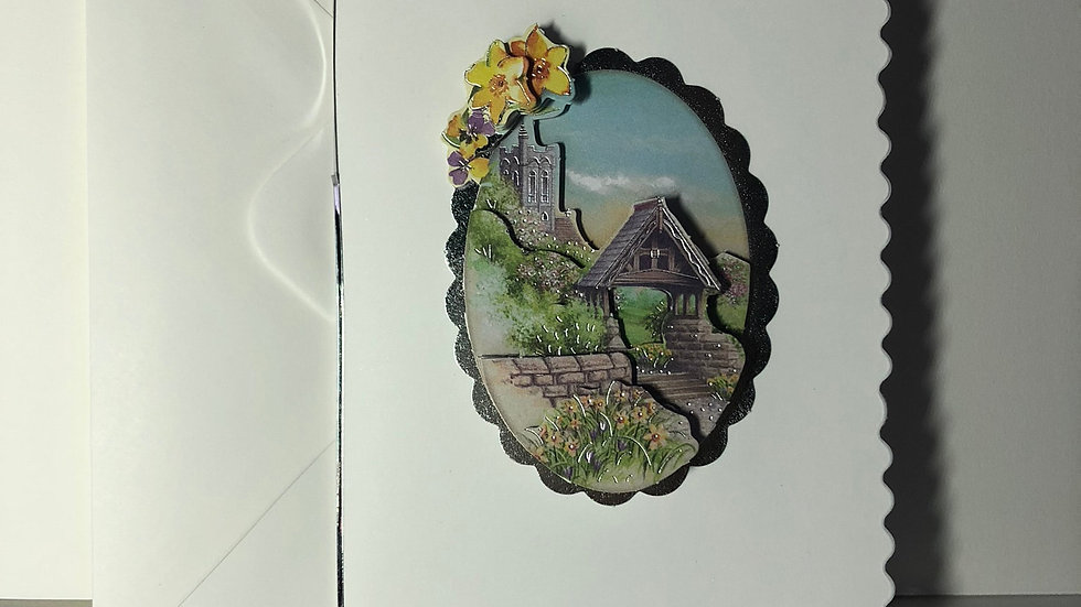 Decoupage Garden 2 Birthday Card