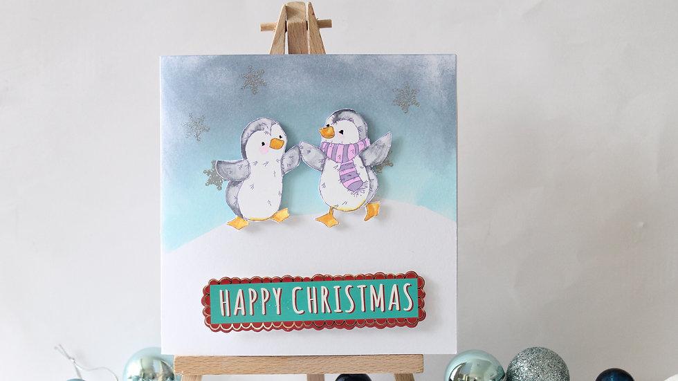 Penguin Friends Christmas Card