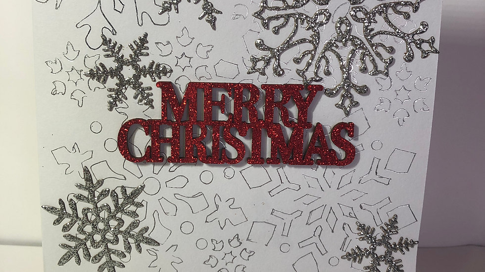 Sparkly Snowflakes Christmas Card