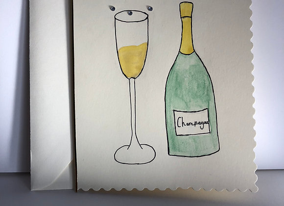Hand Painted Congratulations Card