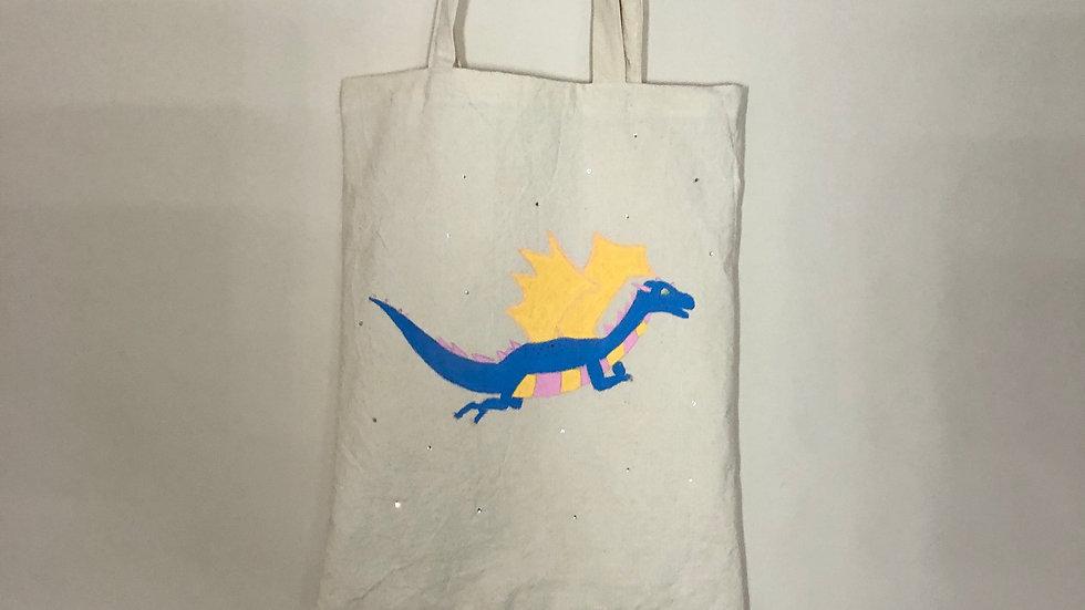 Dragon and Sparkle Tote Bag
