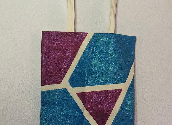 Pink and Blue Mosaic Tote Bag