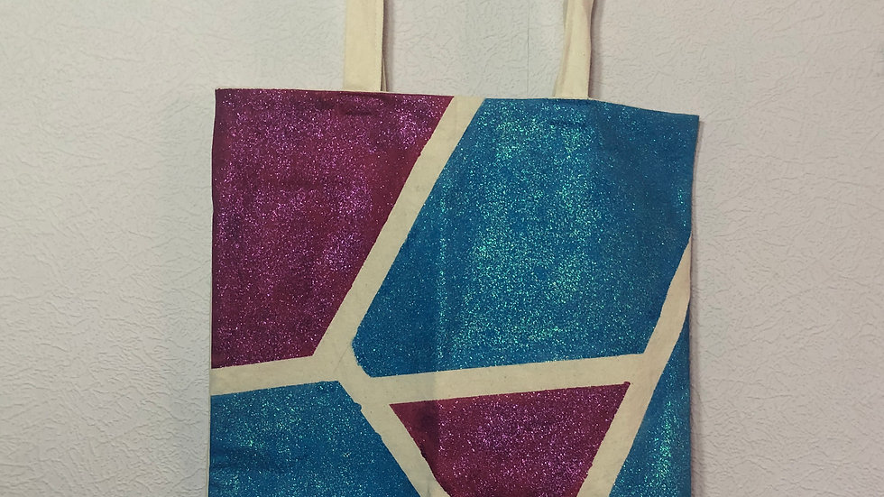 Pink and Blue Mosaic Tote Bag