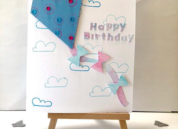 Let's Fly a Kite Birthday Card
