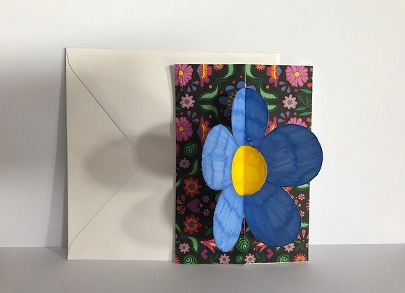 Handmade 3D Flower Card