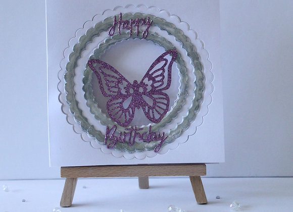 Layered Circle with Butterfly Detail