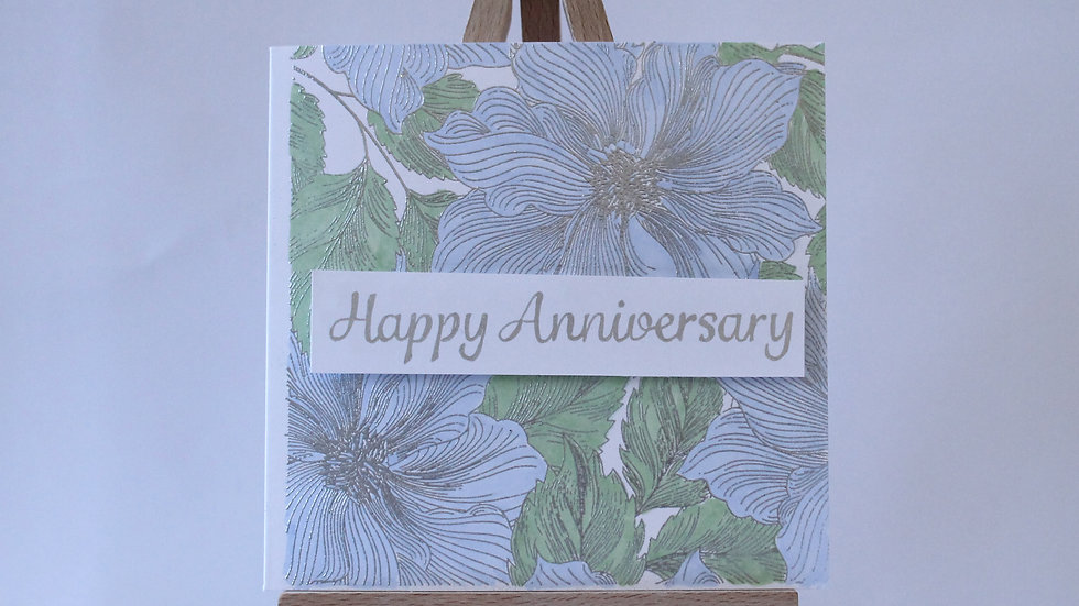 Elegant Floral Anniversary Card