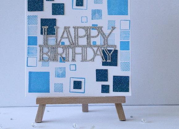 Square Print Birthday Card