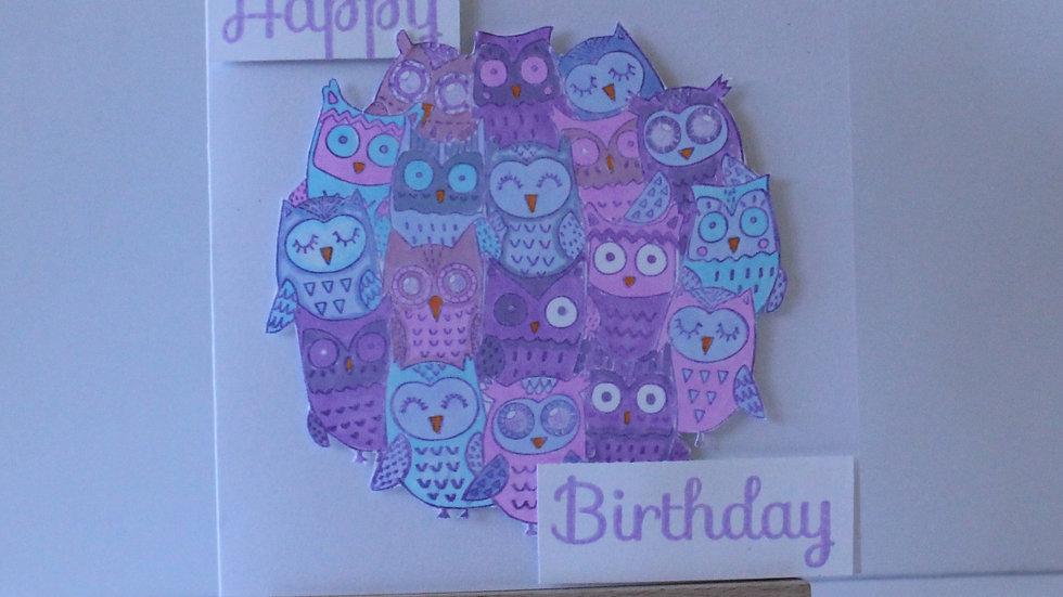 Owl Friends Birthday Card