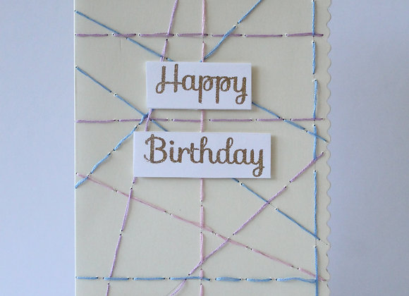 Hand Stitched Birthday Card