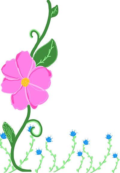 Floral digital illustration