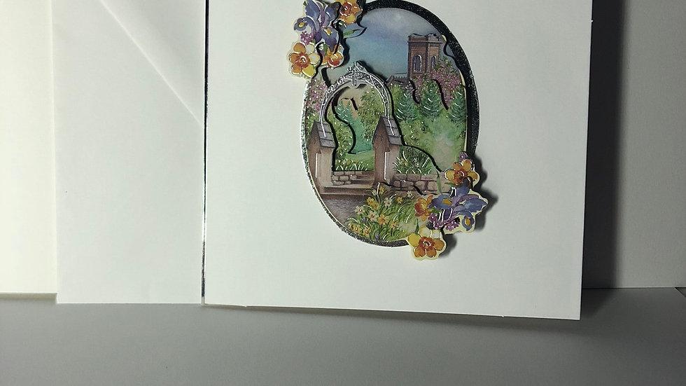 Decoupage Garden 1  Birthday Card