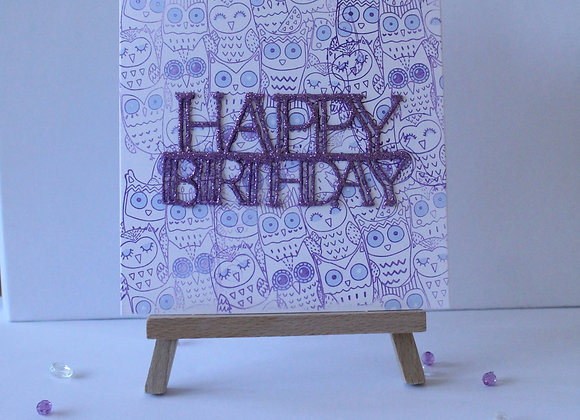 Owl Friends Background Birthday Card