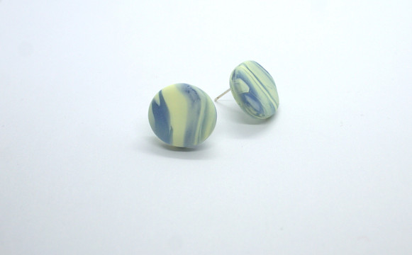 Yellow and Blue Round Stud