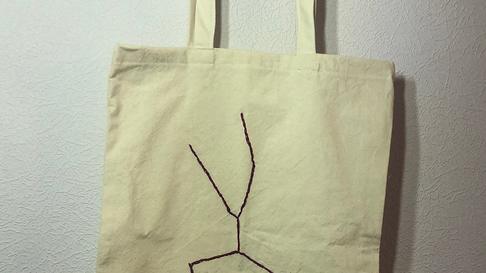 Embroidered Star Sign Tote Bag Taurus