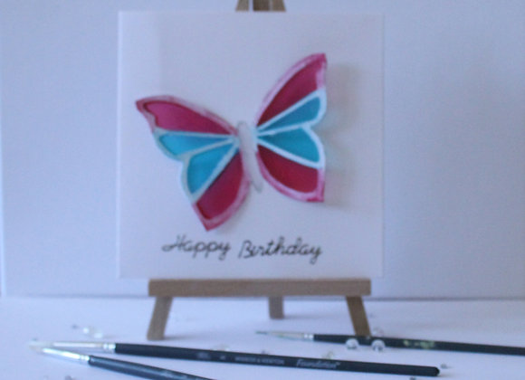 Butterfly Collection:  Butterfly with stain glass effect 3D wings
