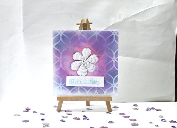 Ink Background with Embedded and Layered Flower