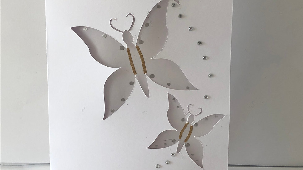 Butterfly Cut Out with Embossed Details